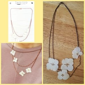 Impressed by Nature Pressed Hydrangea Necklace